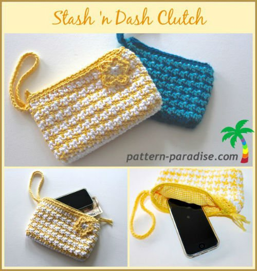 Small clutch purse free crochet pattern