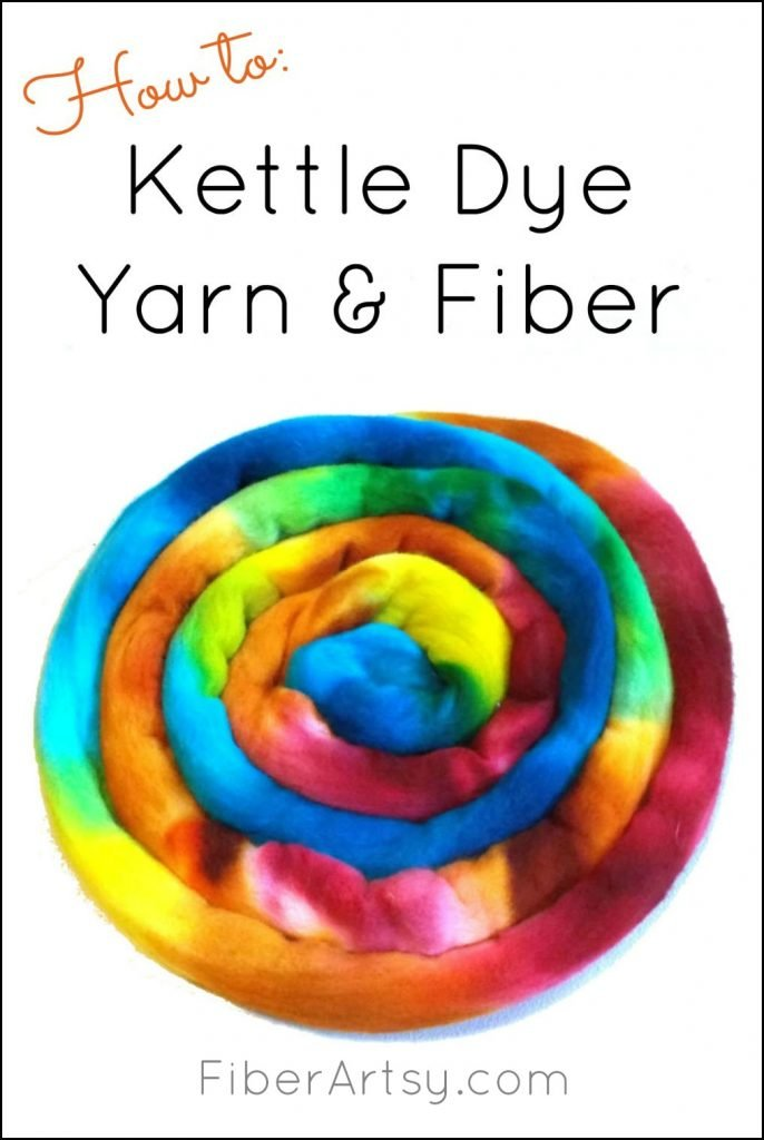 How to hand dye yarn with the kettle dyeing method