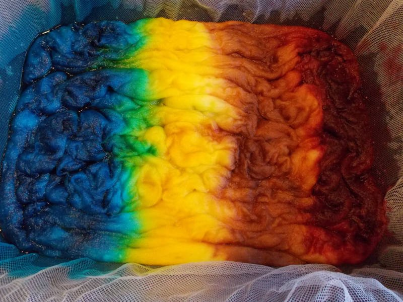 Wool Roving dyed with acid dyes