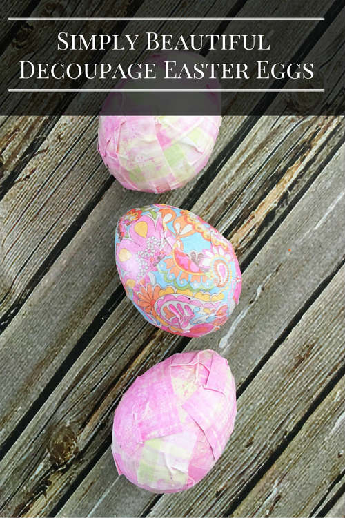 Decoupage Easter Egg Decorating