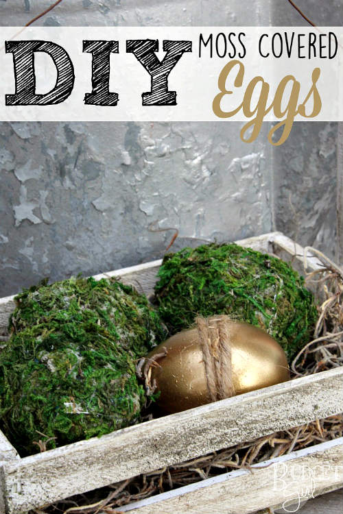 Cover Easter Eggs with Moss for a Natural Decoration
