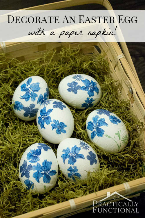 Decoupage Easter Eggs with Paper Napkins