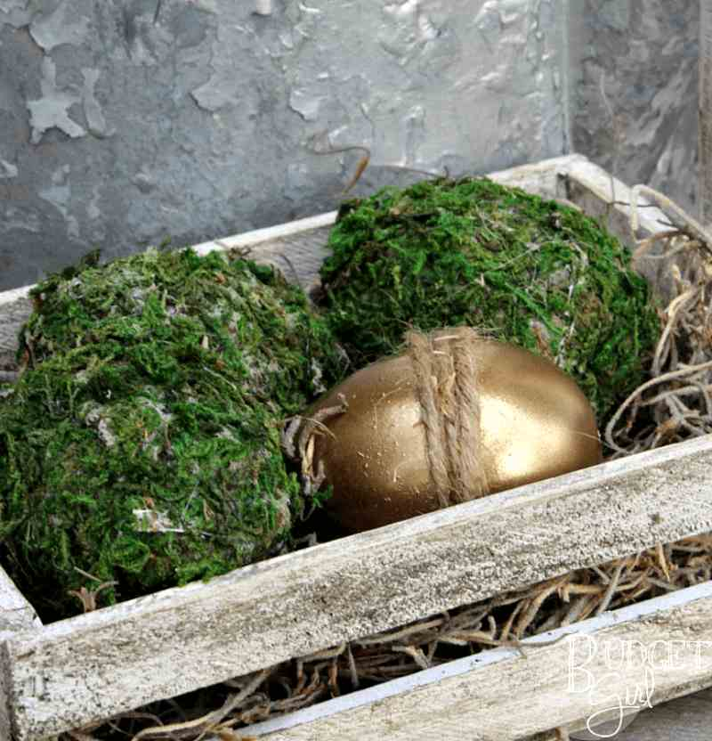 how to decorate easter eggs with moss