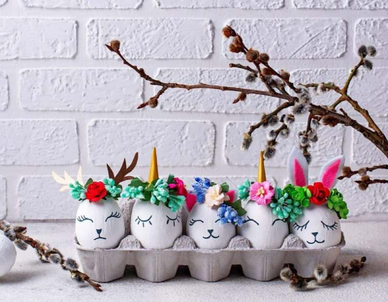 Easy Unicorn Easter Egg decorating idea