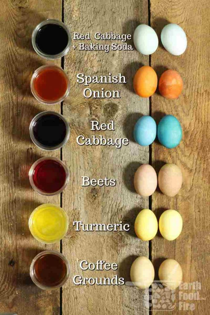 how to make natural easter egg dye from plants
