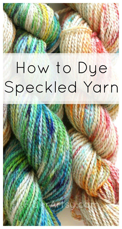 Sprinkle Dyeing Yarn