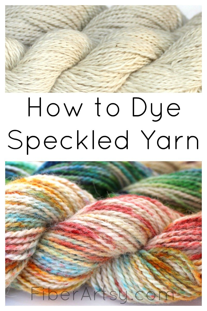Dyeing Wool Yarn with Speckles and Kool Aid