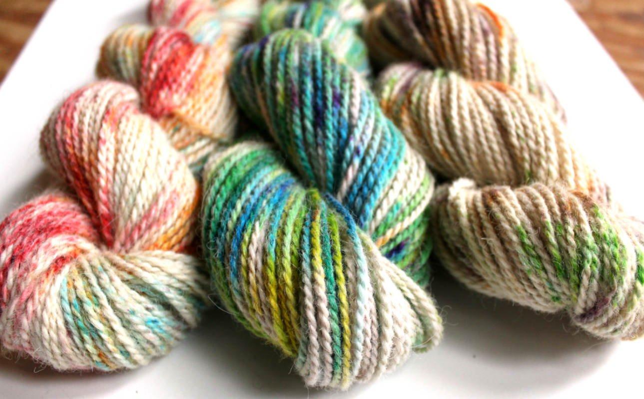 Hand Dyed Merino and Alpaca Wool Yarn