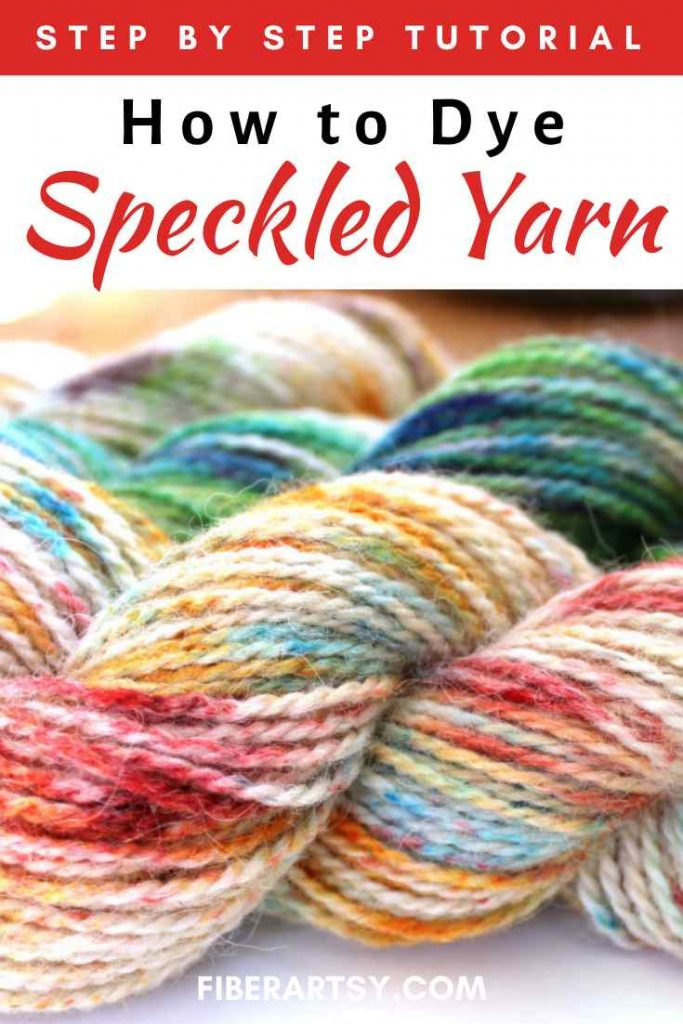 yarn dyed with speckles
