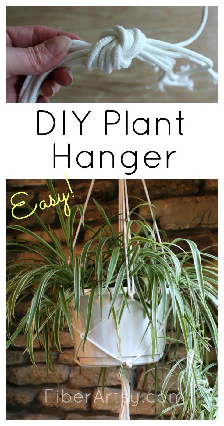 DIY Plant Hanger, step by step tutorial