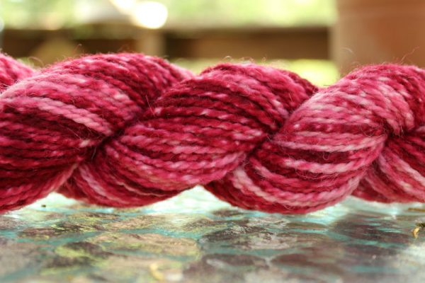 Semi Solid or Tonal Dyed Skein of Yarn