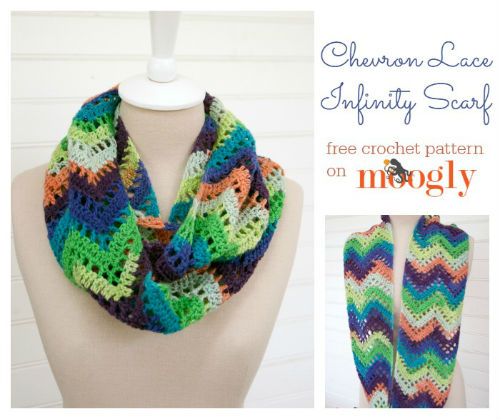 Lace infinity scarf pattern by Moogly