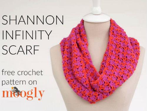 crochet pattern for infinity scarf