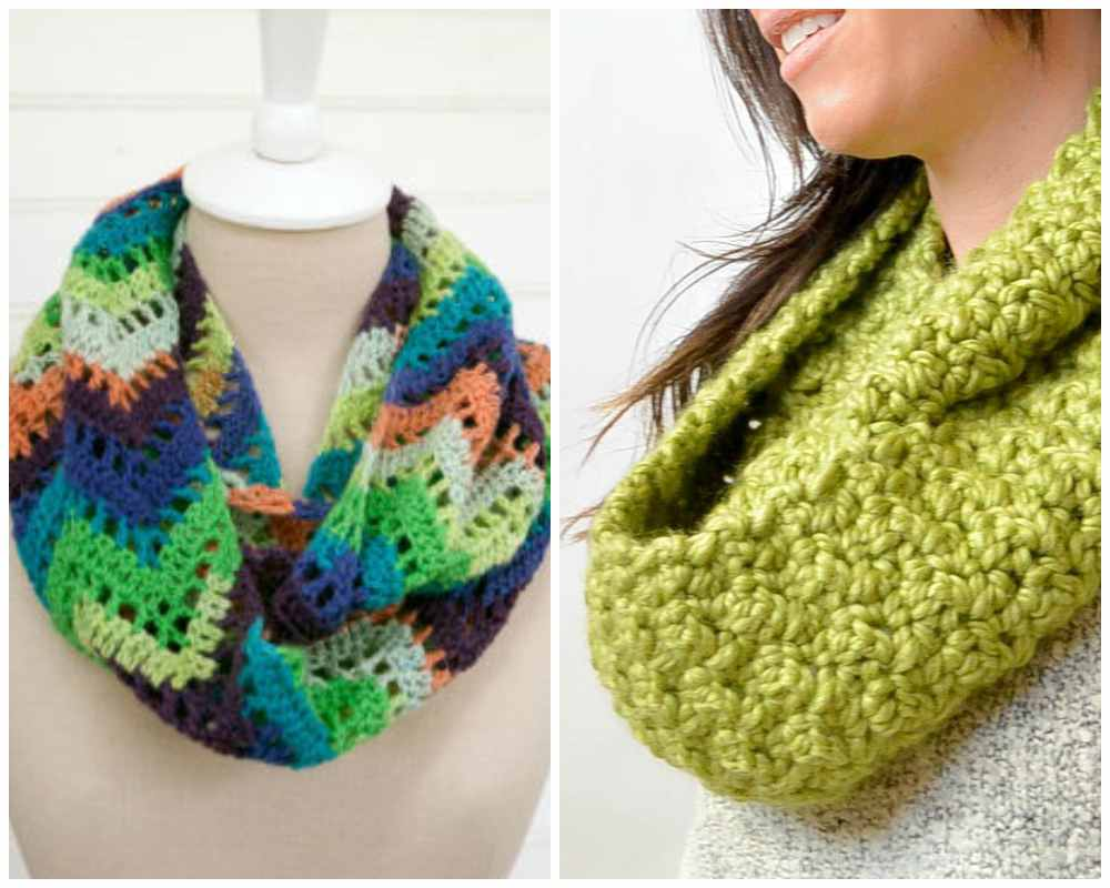 Free Crochet Patterns for Infinity Scarves
