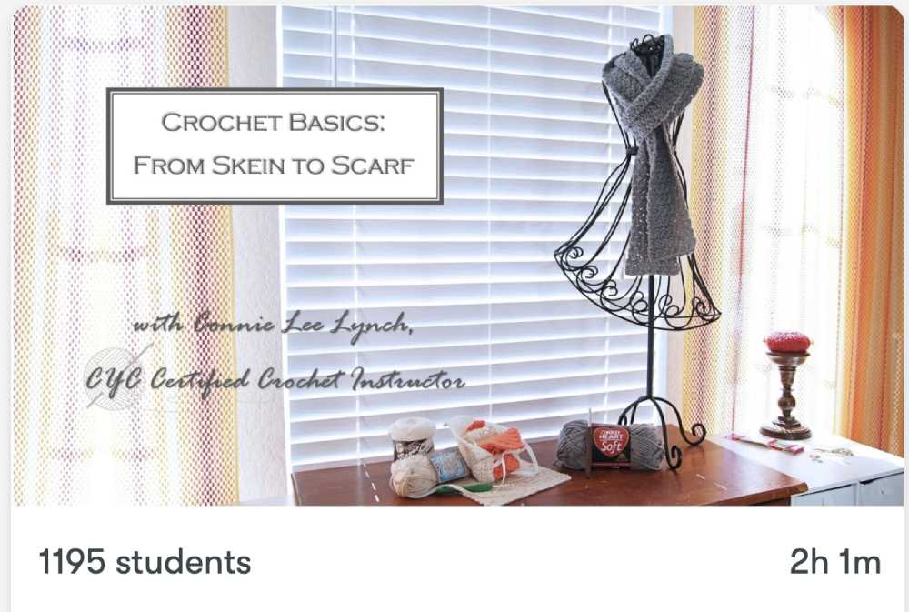 Online Class for Crocheting a Scarf