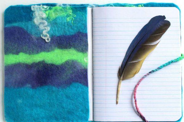 DIY Felted Journal Cover, a FiberArtsy.com tutorial
