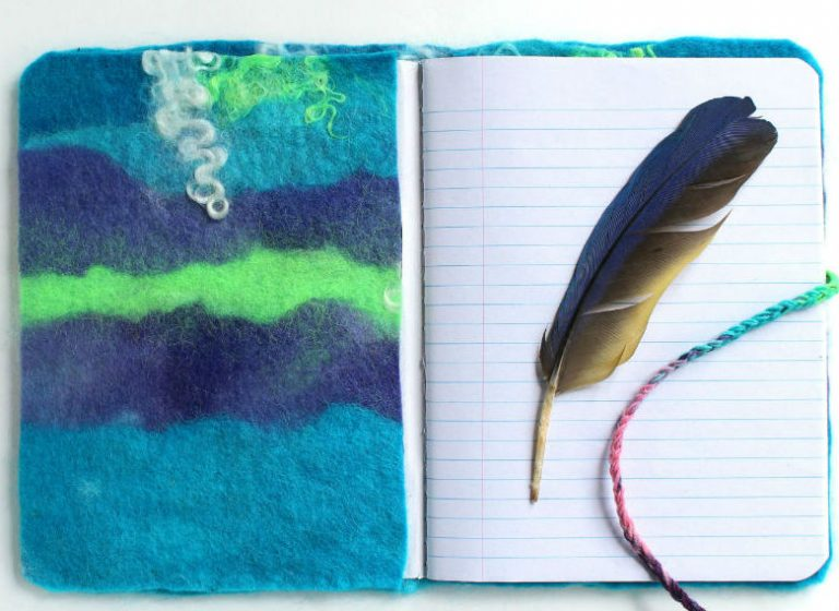 DIY Felted Journal Cover, a FiberArtsy.com tutorial