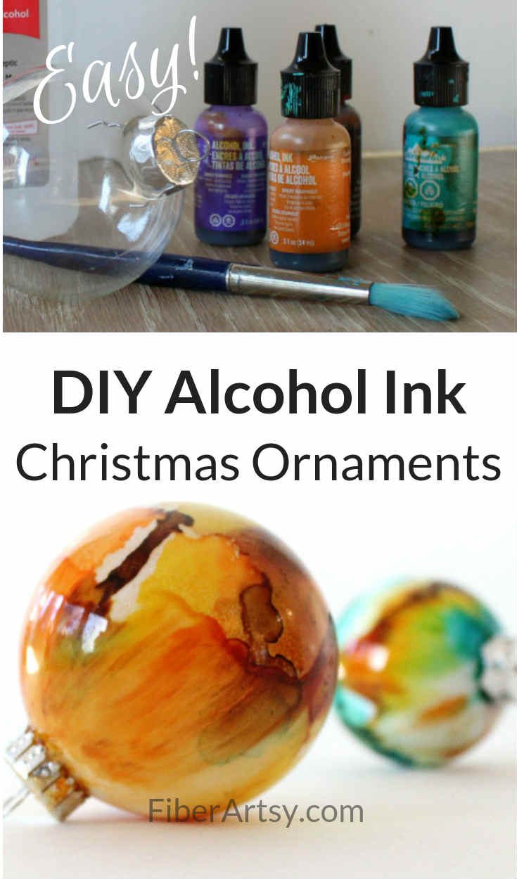 DIY Ornament Ideas - Painted with Alcohol Inks