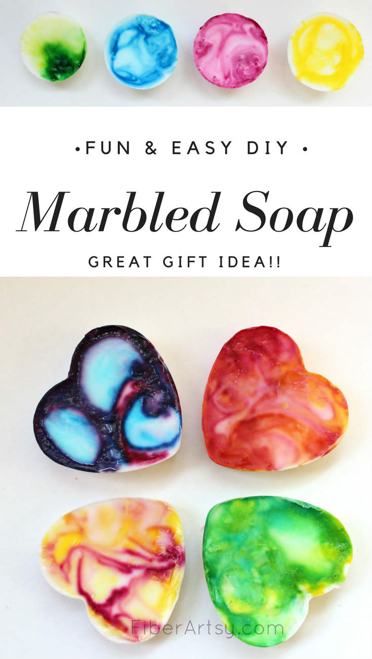 Handmade Soap - marbling soap with a soap base recipe