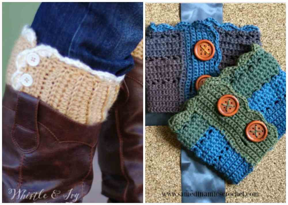 Knit and Crochet Boot Cuffs