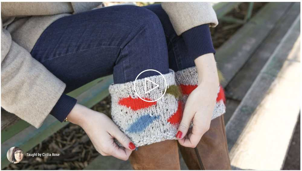 Knitting boot cuffs class
