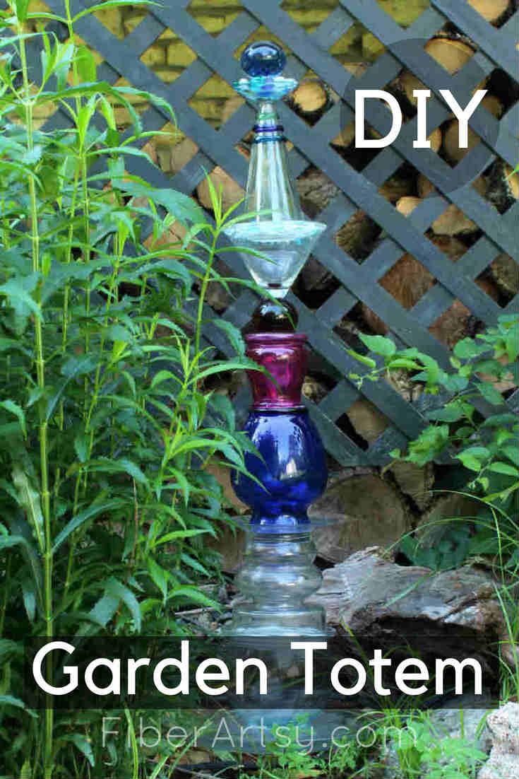 How to Make a Glass Garden Art Totem Pole by FiberArtsy.com