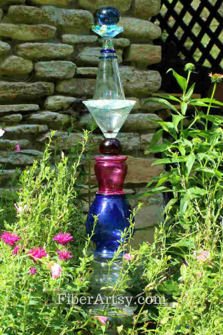 How to make a DIY Glass Garden Totem