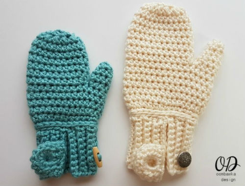 Easy On Mittens by Oombawka Design Crochet