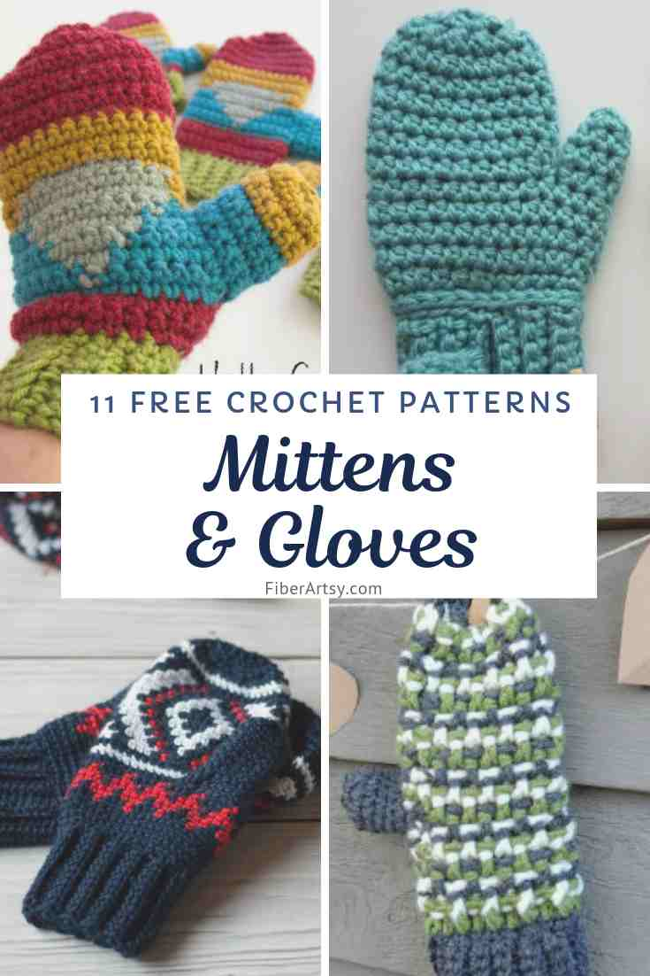 11 Free Crochet Patterns for Gloves and Mittens
