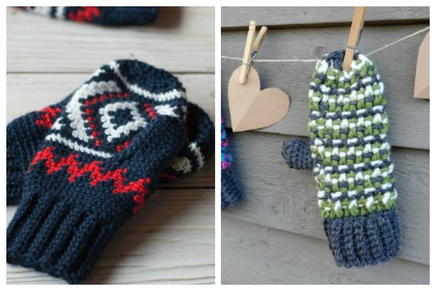 11 Crochet Mittens Patterns