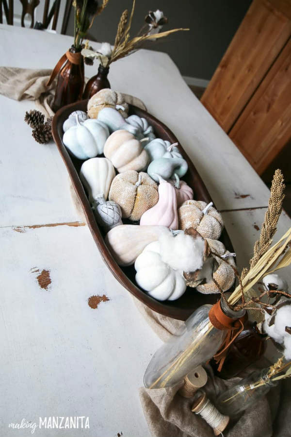 Rustic Fall Table Centerpiece