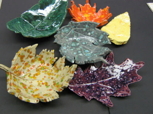 How to Make Autumn Leaf Clay Bowls for Thanksgiving Table Decor