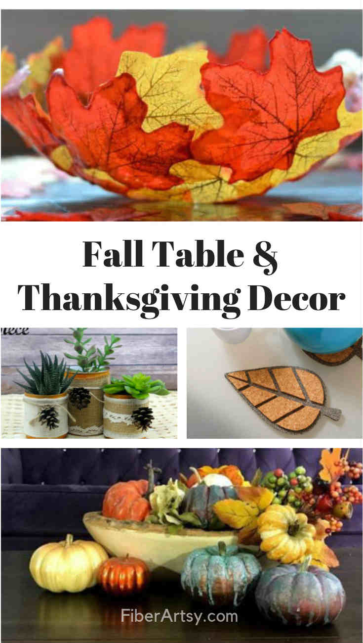 DIY Fall and Thanksgiving Table Decorations