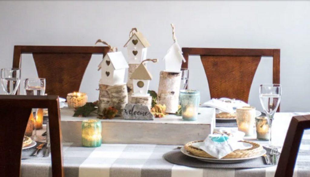 Tiny village table scape