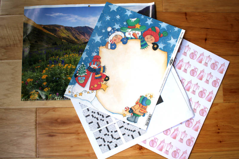 Scrap Book Paper and Calendar Pages to make DIY Envelopes