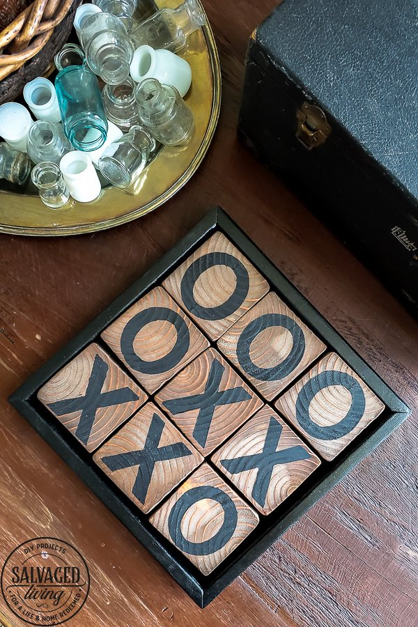 Handmade DIY Tic Tac Toe Board
