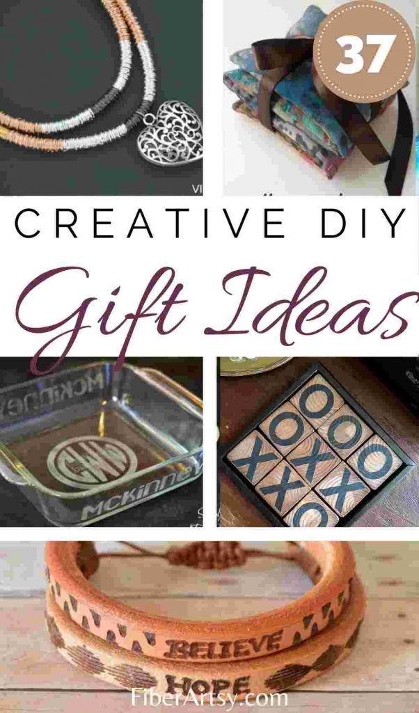 37 handmade gift ideas for Christmas or Birthdays