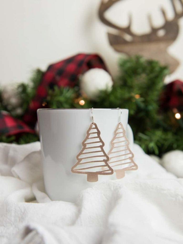 Handmade earrings Christmas DIY gift idea