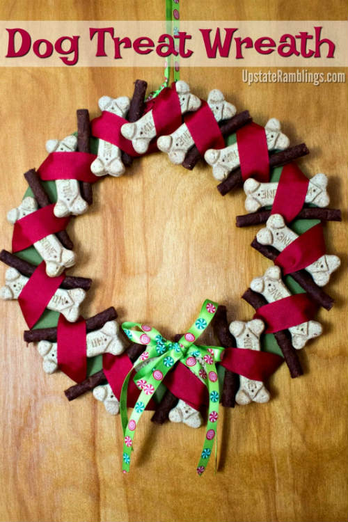 Wreath made with Dog Treats