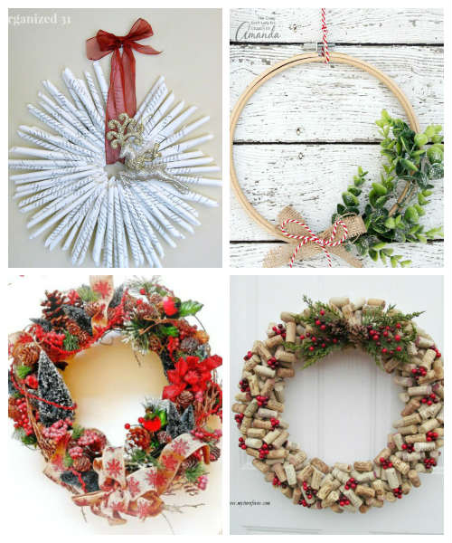 Handmade Diy Christmas Wreath Ideas Fiberartsy Com