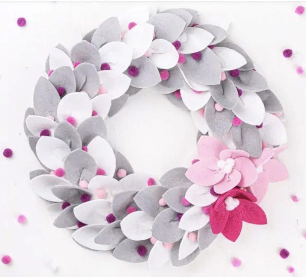 Handmade felt Christmas wreath