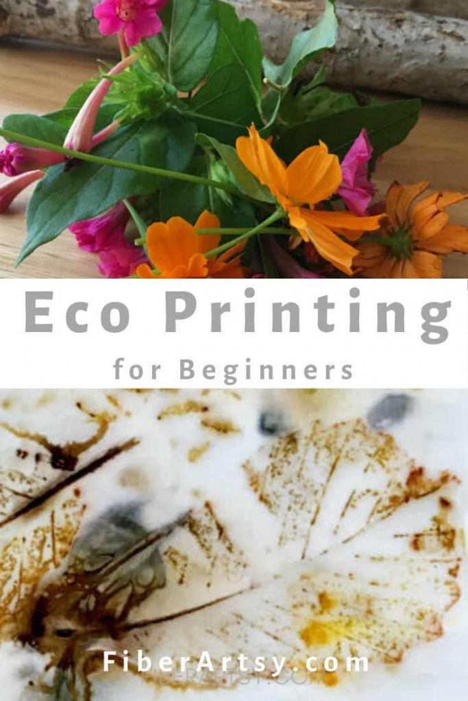 How to Ecoprint on Paper with leaves and flowers