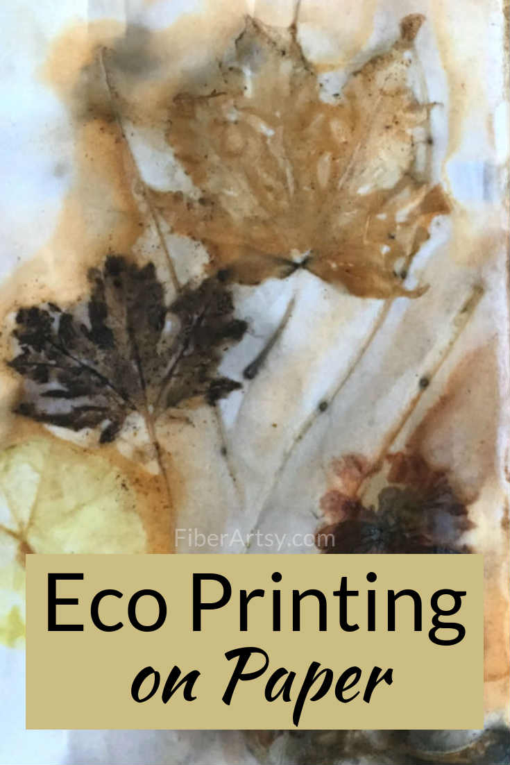 How to Eco Print on Paper.  Learn the basics of eco printing with leaves and flowers in this step by step tutorial.