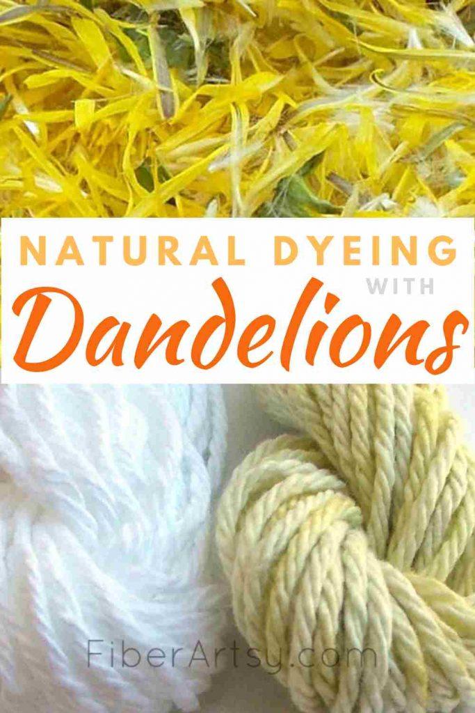 Dyeing Yarn with Dandelions