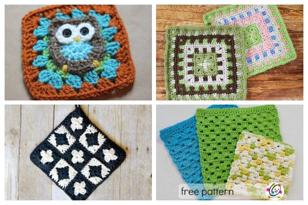 Free Crochet Patterns for Granny Squares