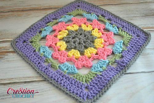 12 inch Crochet Square Free Pattern