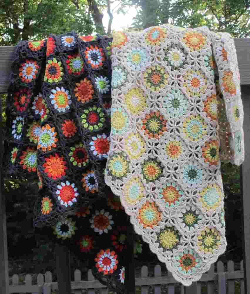 Crochet Granny Square Afghan Kit