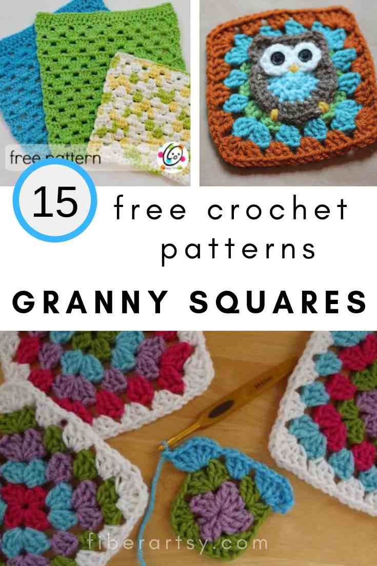 15 Free Crochet Patterns for Blanket Granny Squares