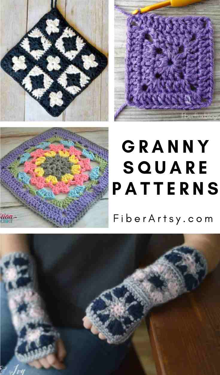 Free Crochet Patterns to make Granny Squares