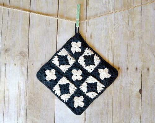Pot Holder Granny Square Pattern